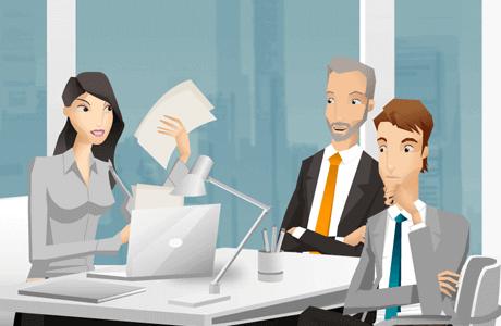 Interactieve e-learning over een goede klantrelatie.