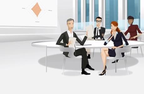Een interactieve e-learning over de verschillende communicatiestijlen.