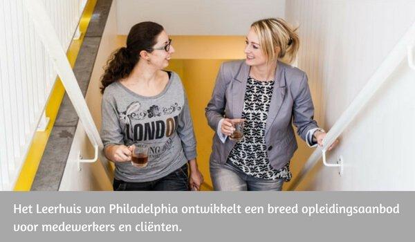 Philadelphia Leerhuis heeft een breed opleidingsaanbod voor medewerkers en cliënten