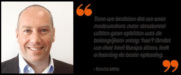 Ronnie Witte over het gebruik van e-learning in de bouw.