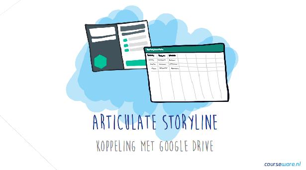 Beschrijving door Bastiaan Timmer van de koppeling tussen Articulate Storyline en Google Drive