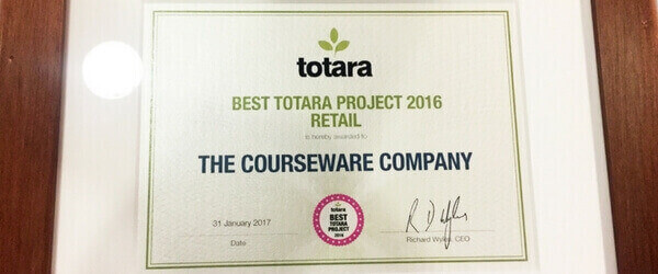 Totara Best Retail Project voor The Courseware Company
