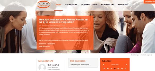 Een flexibele leeromgeving met een zelfregistratiepagina