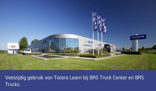 eelzijdig gebruik van Totara Learn bij BAS Truck Center en BAS Trucks