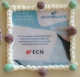 ECN gaat live met NetDimensions Performance en een smakelijke taart.