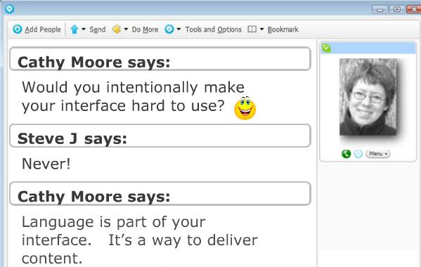 Voorbeeld van interactieve contact met cursist