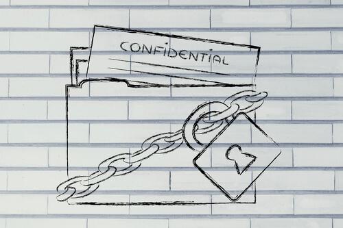 tekeningen met bescherming van gegevens