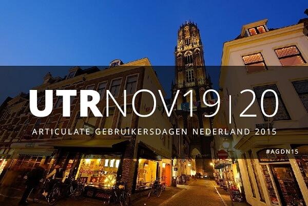 Articulate Gebruikersdagen Utrecht 19 en 20 november 2015