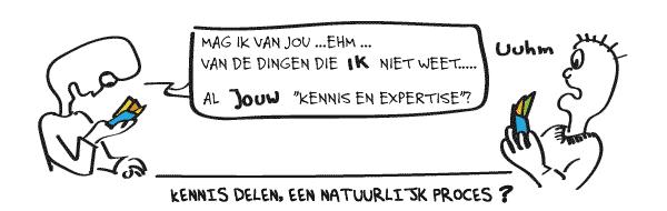 Kennisdeling - cartoon (c) Creactor - Thomas Platzer