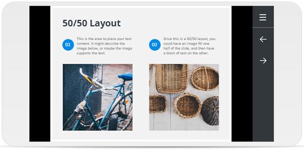 Storyline 360 weergave op een smartphone