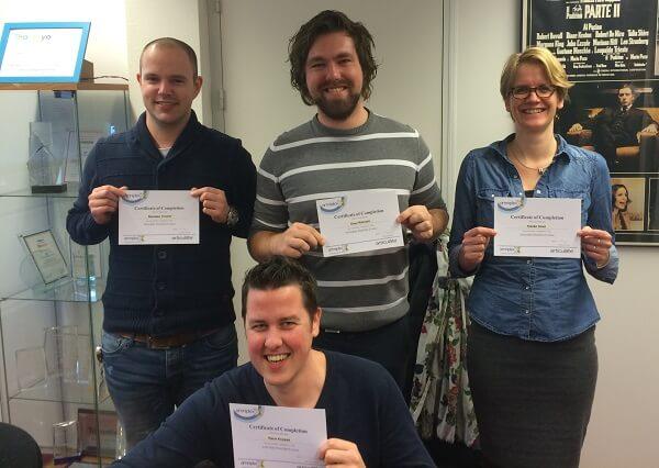 De Articulate Certified Trainers van The Courseware Company zijn trots op hun Storyline certificaat
