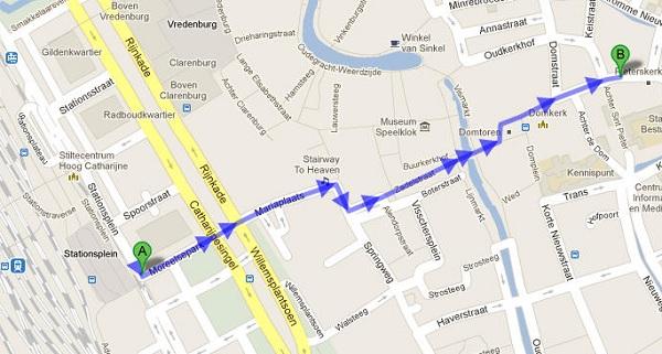Looproute naar de Articulate Gebruikersdag 2015 in Utrecht