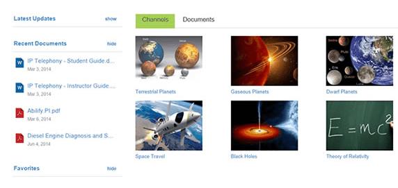 Screenshot van collectie met persoonlijke leer-content in Xyleme